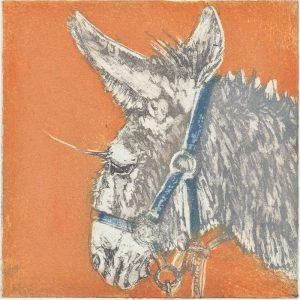 Radierung Esel