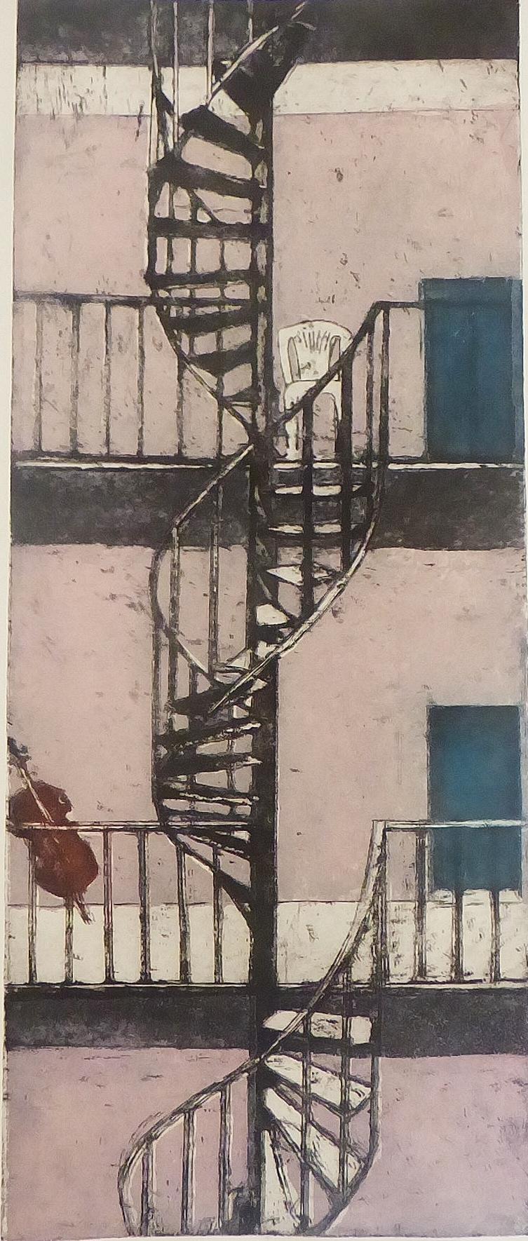 Radierung Treppe